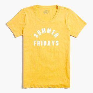 "J.CREW ""Summer Fridays"" Women Graphic Tee | S NWT"